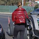 Rosie Huntington Whiteley in Spandex – Leaving gym in Los Angeles