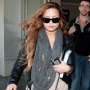Demi Lovato arrives at LAX (Los Angeles International Aiport