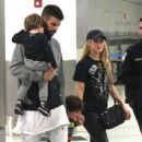 Shakira With Her Family at the Airport in Miami 12/19/ 2016 - 454 x 773