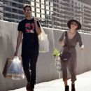Sarah Hyland and Wells Adams – Shopping at Farmer's Market in Los Angeles - 454 x 488