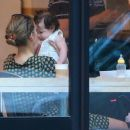 Leelee Sobieski Spends The Day With Her Daughter At A Cafe In New York City - May 30, 2010