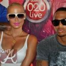 Amber Rose and Trey Songz at the Vodaphone 020 Live show in Ghana, Africa - September 22, 2011 - 454 x 305