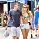 Bella Thorne in Bikini Top at Venice Beach - 454 x 681