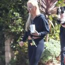 Lindsey Vonn out with a cup of coffee in Los Angeles