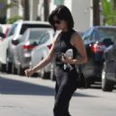 Lucy Hale – Heads to a workout in Los Angeles