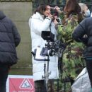 Michelle Keegan – on the set of 'Brassic' in Lancashire - 454 x 681