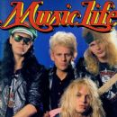 Bret Michaels, Bobby Dall, Rikki Rockett, C.C. Deville - Music Life Magazine Cover [Japan] (February 1989)