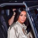 Kim Kardashian in Silver Outfit – Leaving The Mercer Hotel in New York