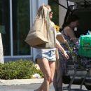 LeAnn Rimes In Jeans Shorts Shopping In Calabasas