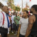 (L-r) KEITH DAVID as Sweet Tee, BOW WOW as Kevin Carson and GBENGA AKINNAGBE as Lorenzo in Alcon Entertainment's comedy 'LOTTERY TICKET,' a Warner Bros. Pictures release. Photo by David Lee - 454 x 302