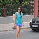 Bergüzar Korel  out and about in Nişantaşi (May 29, 2014)