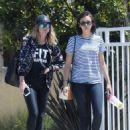 Nina Dobrev in Jeans out in LA - 454 x 630