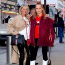 Christie Brinkley with her daughter arriving to the Knicks vs Heat Basketball game in NYC - 454 x 604