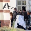 Mandy Moore – On the set of 'This Is Us' in Pasadena - 454 x 419