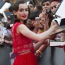 Lily Collins at the premiere of
