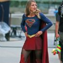"Melissa Benoist – ""Supergirl"" Set in Downtown Vancouver 07/16/2017"