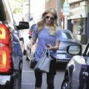 Ashley Greene spotted getting her manicure on at a salon in Beverly Hills, California on April 22, 2017