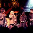 Motley Crue (L-R) Vince Neil, Nikki Sixx, Mick Mars, Tommy Lee with their awards on stage at the the Annual Sunset Strip Music Festival, Tribute to Motley Crue at the House of Blues Sunset Blvd on August 18, 2011 in West Hollywood, California.