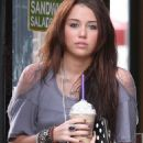 Miley Cyrus stopped by to get her caffeine fix in Los Angeles,January 9, 2010
