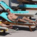 Rhian Sugden in Yellow Bikini in Ibiza - 454 x 296
