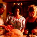 Julianna Margulies, Lainie Kazan and Kyra Sedgwick in Trimark's What's Cooking? - 2000