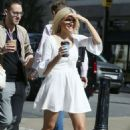 Pixie Lott – In white dress out in London - 454 x 681