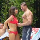 Roxanne Pallett and boyfriend Jason Carrion were seen at a pool party in Manhattan - 454 x 697