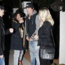 Tommy Lee and Sofia Toufa are spotted out for dinner at Gracias Madre in West Hollywood, California on December 2, 2015.