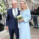 Rupert Murdoch and Jerry Hall wedding at St. Bride's Church on Fleet Street, London, Britain - 5 March 2016 - 454 x 681