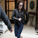 Kristen Stewart Keeps the Leather Coming in Paris