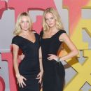 Erin Heatherton and Candice Swanepoel: at the Victoria's Secret store in Herald Square