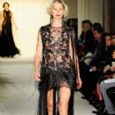 Karolina Kurkova Marchesa Fashion Show In New York City