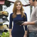 Maria Menounos Filming 'Extra' In LA