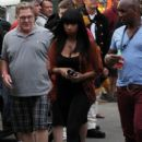.Jennifer Hudson arrived at the Hatch Shell along the Charles River in Boston this evening for a dress rehearsal in preparation for tomorrow nights Fourth of July celebration
