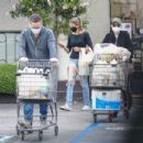 Anna Faris – Grocery shopping at Gelson's Market in Pacific Palisades - 454 x 302