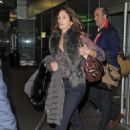 Cindy Crawford Arrives at JFK
