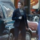Cobie Smulders – On the set of their upcoming Marvel hit in Atlanta - 454 x 681