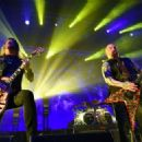 Guitarists Gary Holt and Kerry King of Slayer perform at The Joint inside the Hard Rock Hotel & Casino on March 26, 2016 in Las Vegas, Nevada - 454 x 324