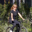 Rosie Huntington-Whiteley – Out for a bike ride in Beverly Hills