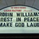 Dearest wish: A shot of the marquee at the Laugh Factory in West Hollywood paying tribute to the late Robin Williams on August 11, 2014 in Los Angeles, California - 454 x 301