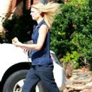 Claire Danes on the set of 'Homeland' in North Carolina (July 19)