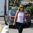 Olivia Wilde in Los Feliz with her canine companion (August 16-17)