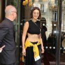 Bella Hadid – Leaves Royal Monceau hotel in Paris