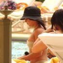 Vanessa Hudgens in Bikini at the pool in Las Vegas