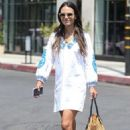 Jordana Brewster in Summer Dress out in West Hollywood - 454 x 681