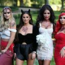 Courtney Green – 'The Only Way is Essex' Halloween Special TV Show Filming in Essex