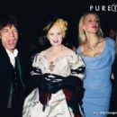 Mick Jagger, Vivienne Westwood, Jerry Hall and daughter Elizabeth Jagger at the Vivienne Westwood tribute by Moet & Chandon at the Victoria and Albert Museum, London, 17th November 1998.