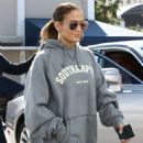 Jennifer Lopez in Floral Tights – Head to the gym in Miami