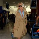 Victoria Silvstedt Arriving at Airport in Nice