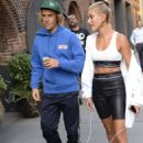 Hailey Baldwin and Justin Bieber at Cecconi's restaurant in Brooklyn